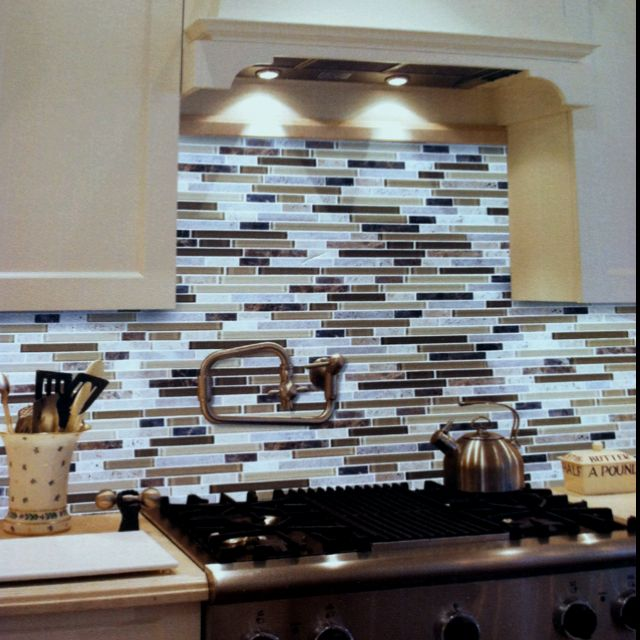 Mosaic Kitchen Tiles Are At Costco Jason Stocks Young Karrels Mosaic Tile Kitchen Kitchen Backsplash Images Kitchen Ideas Pinterest