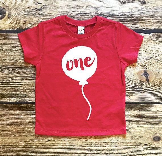 First Birthday Shirt Boy Or Girl Unisex Baby Boys Party Tee One Year Old My 1st Balloon Top Toddler Outfit