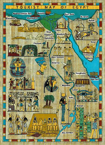 Great Travel Map For Those Wanting To See Historical Ancient - Map of egypt historical sites