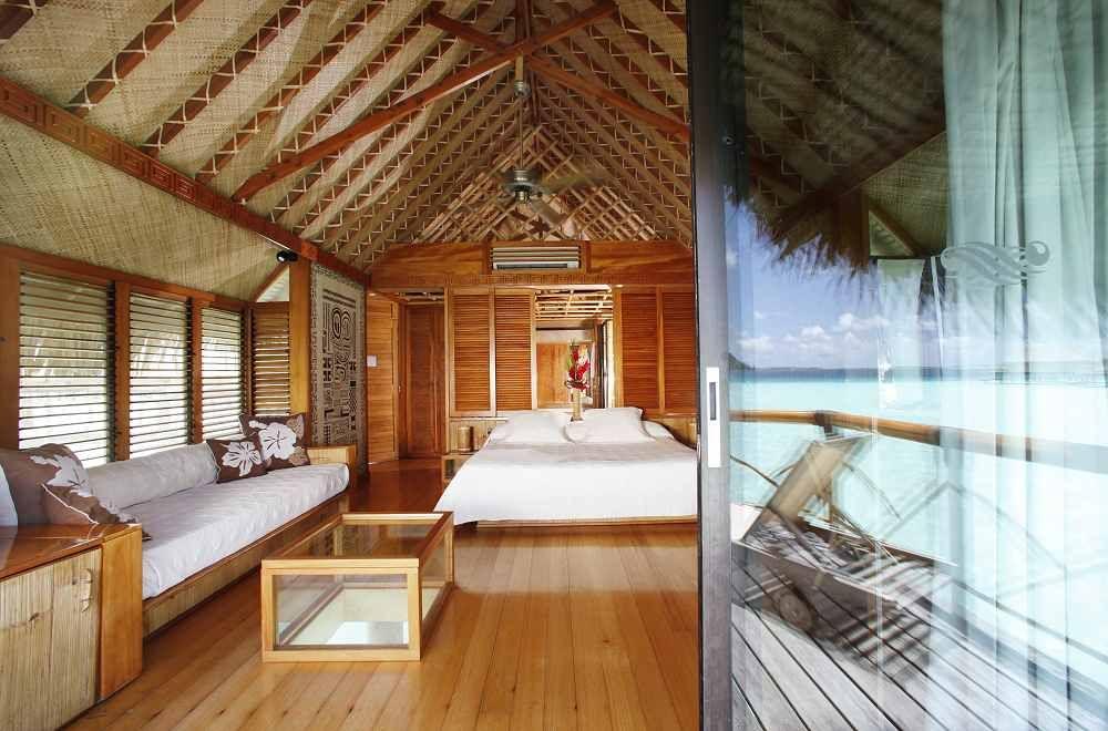 Inside An Overwater Bungalow Bora Bora Pearl Beach Resort