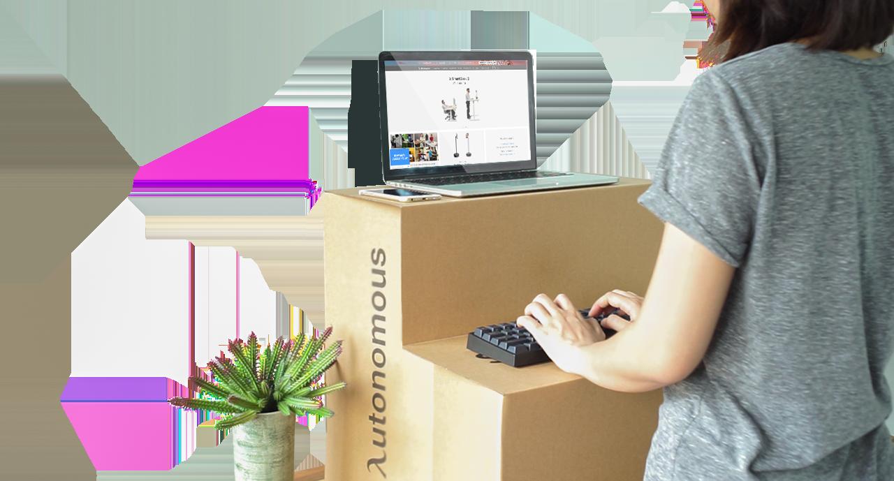 autonomous cardboard affordable standing desk converter for the