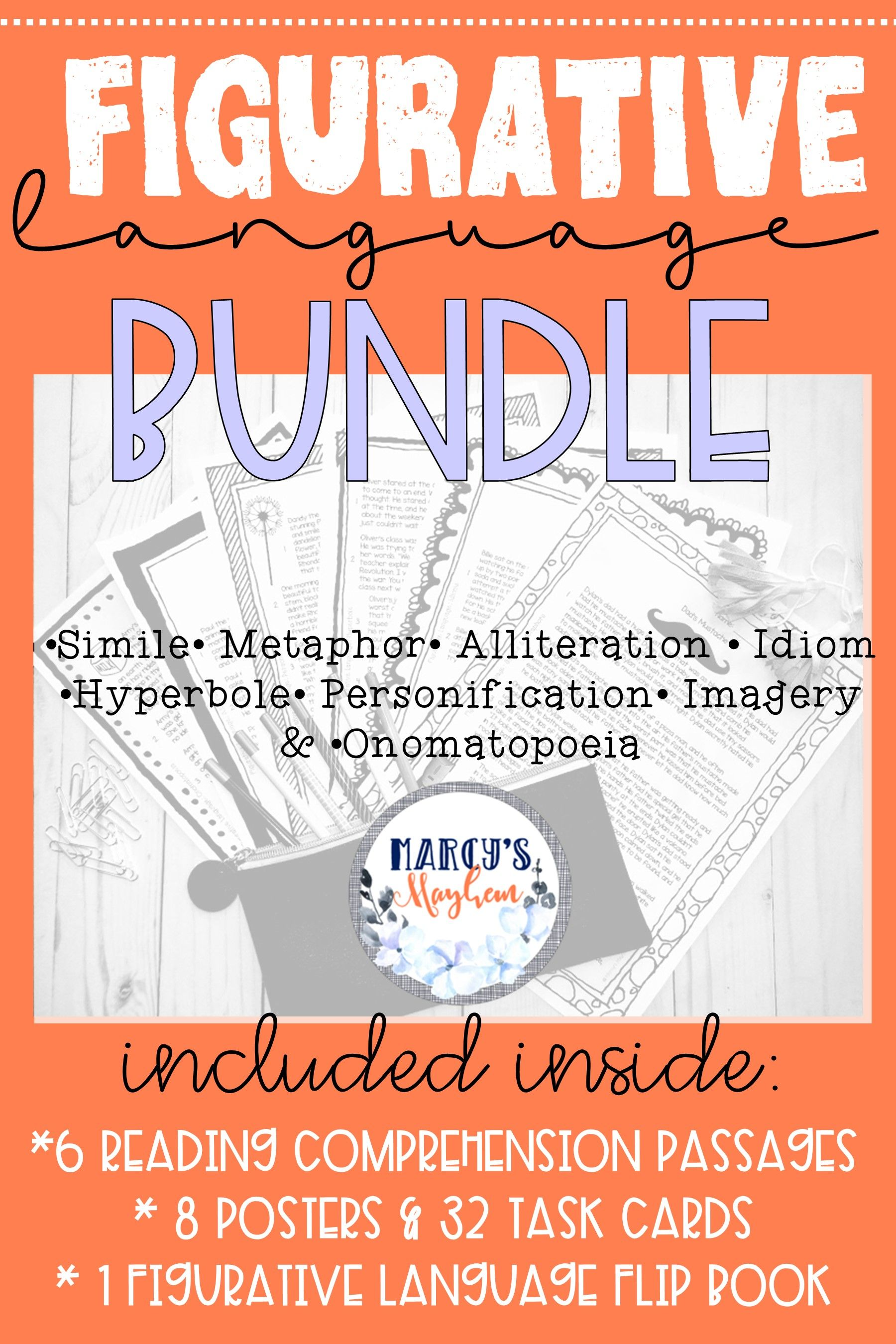 4th Amp 5th Grade Figurative Language Activity Bundle