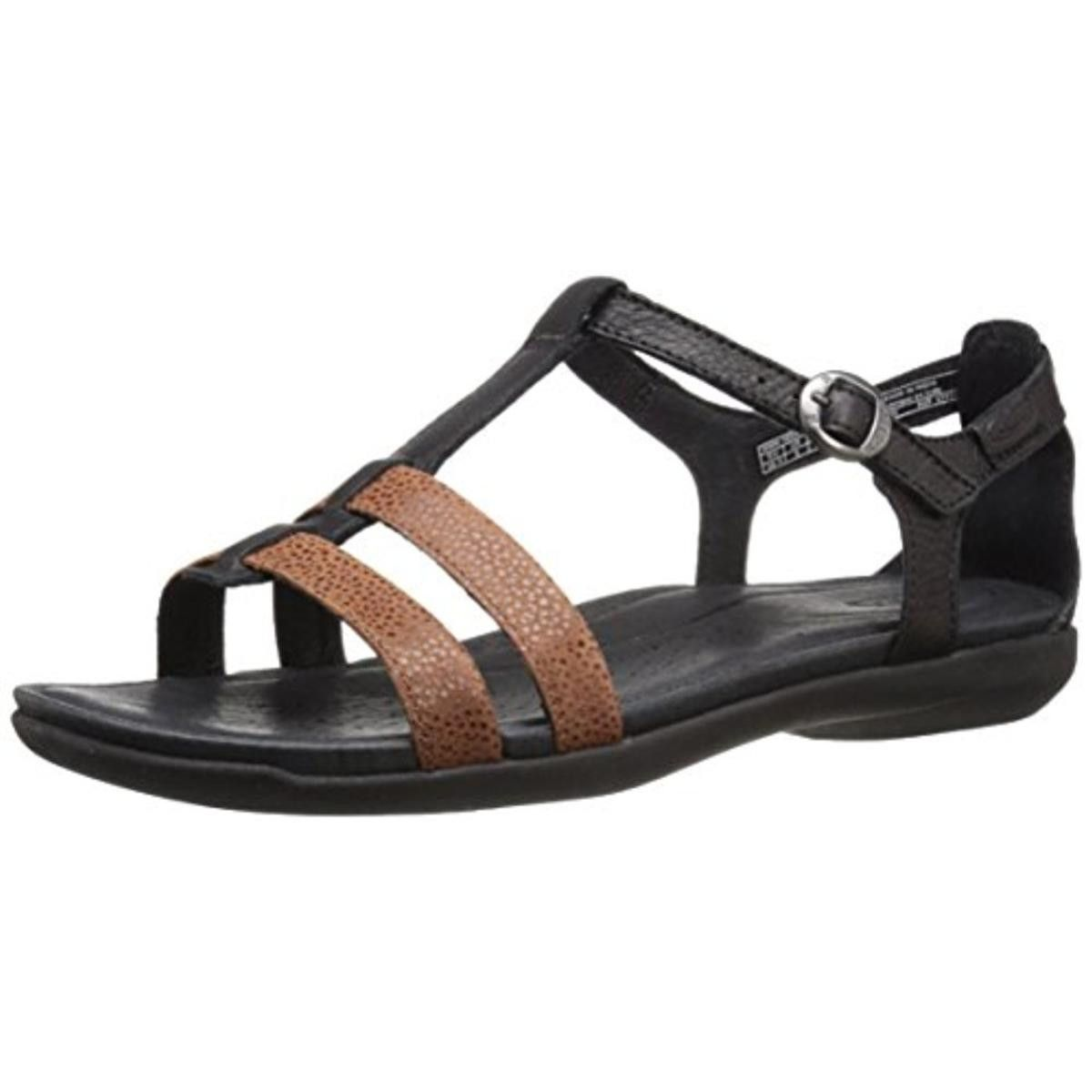48cf59a548aa Keen Womens Rose City Leather Colorblock T-Strap Sandals