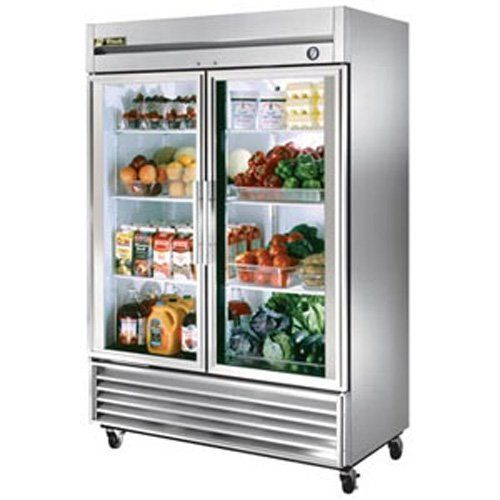 Glass Door Refrigerator 2 Door 49 Cu Ft S S Glass Door Refrigerator Glass Door Fridge Commercial Glass Doors