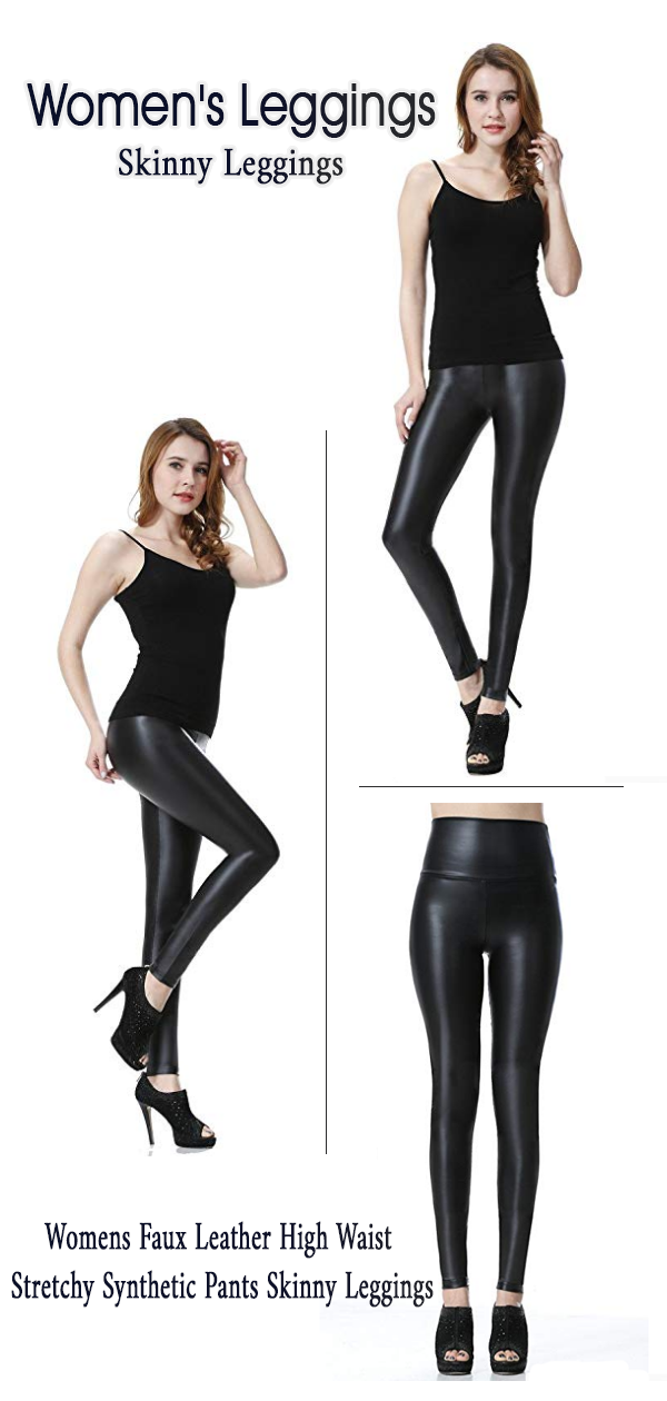 a21afa71b8195 #1 Best Seller Price: $15.99 Everbellus Womens Faux Leather High Waist  Stretchy Synthetic Pants