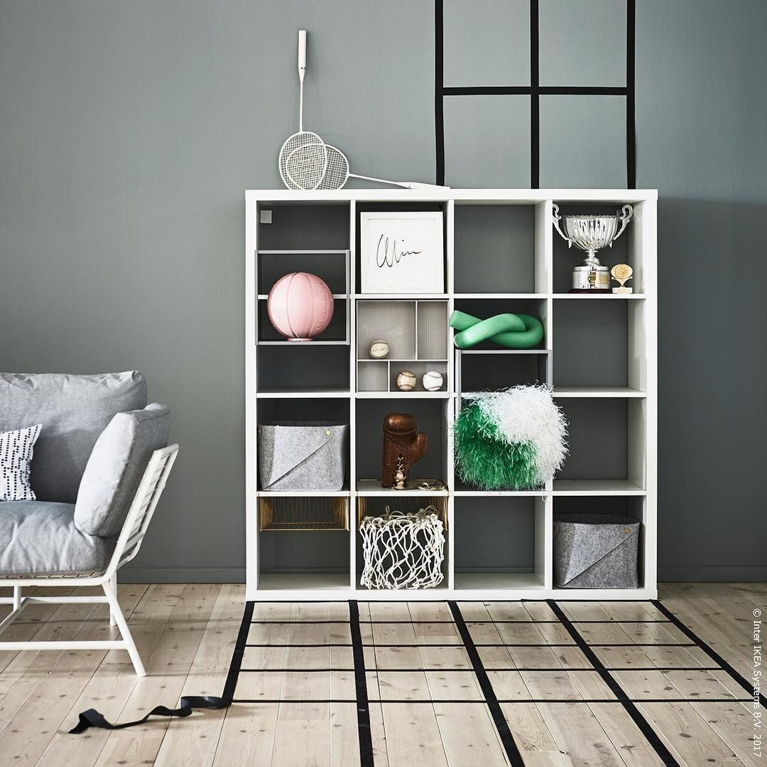 Ikea Kallax White Livingroom Sofa Grey #KALLAX #meinIKEA | Home ...