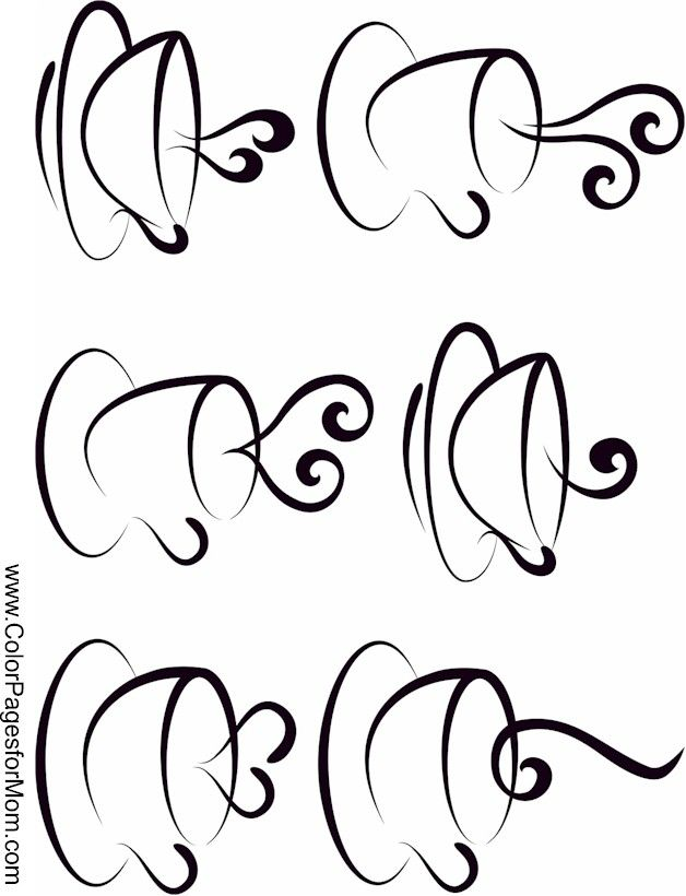 coffee coloring page 17 More | CNC images | Pinterest | Dibujos ...
