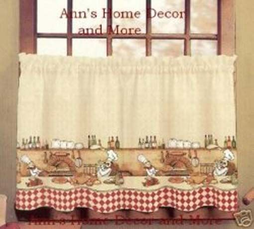 Marvelous Fat Chef Kitchen Curtains!! CUTE!