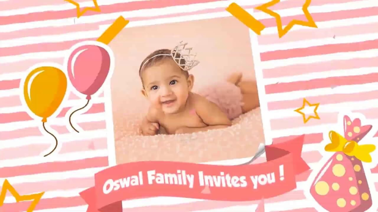 latest first birthday invitation video