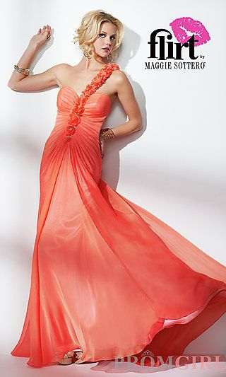 One Shoulder Evening Gown by Flirt at PromGirl.com | Clothes ...