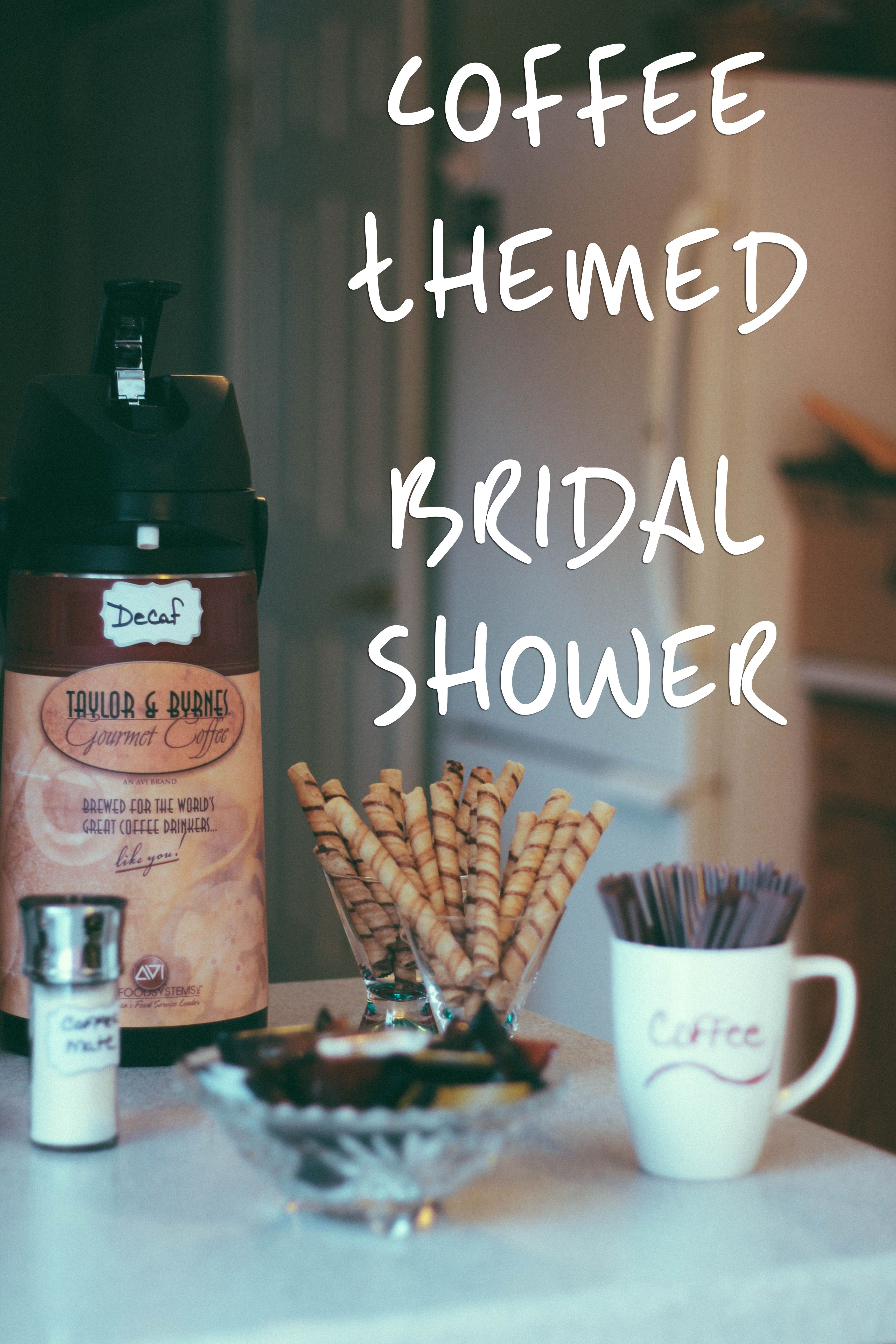 fall bridal shower menu ideas%0A CoffeeThemed Bridal Shower