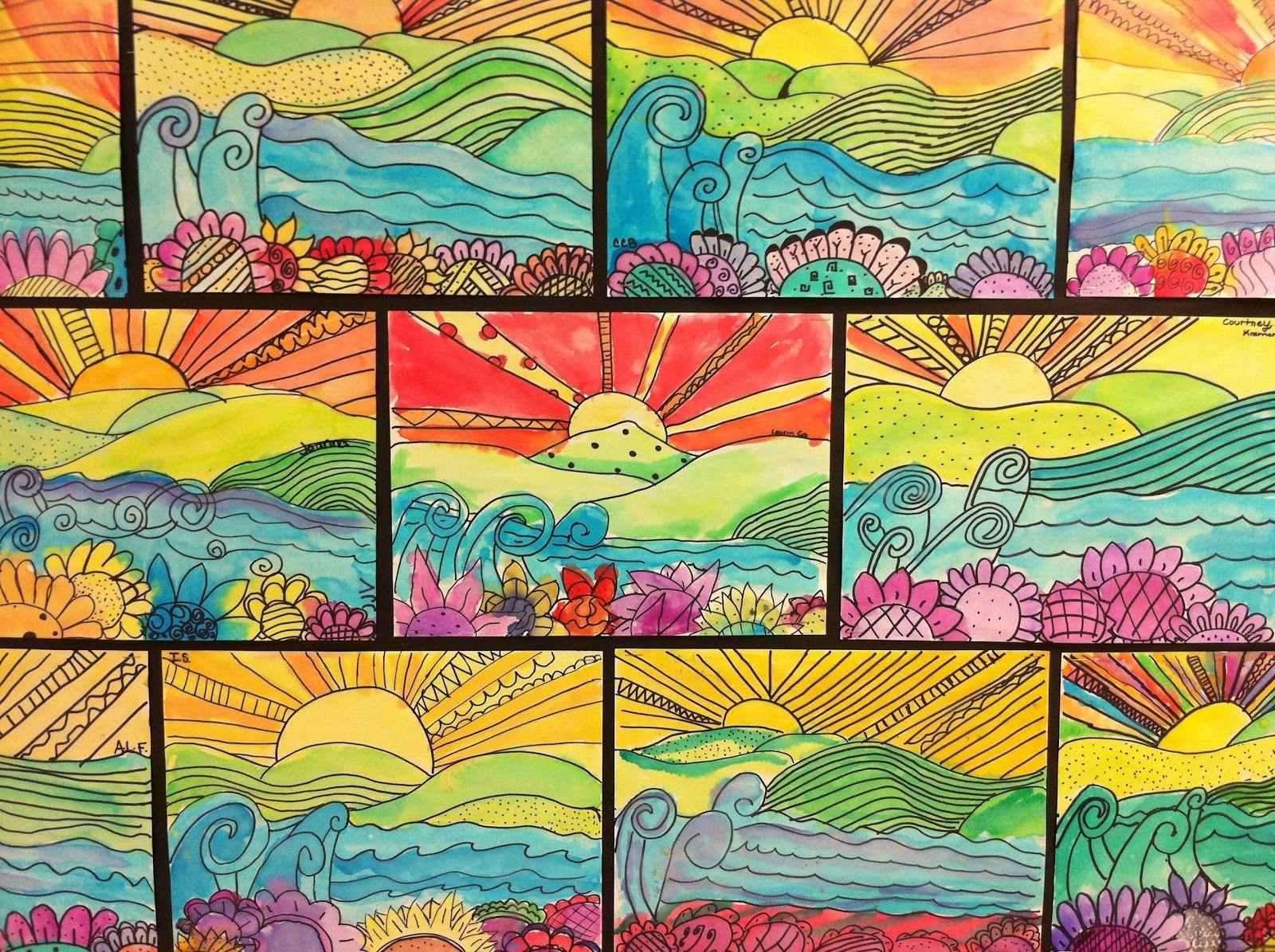 Apex Elementary Art: whimsical landscapes | Elementary Art ...