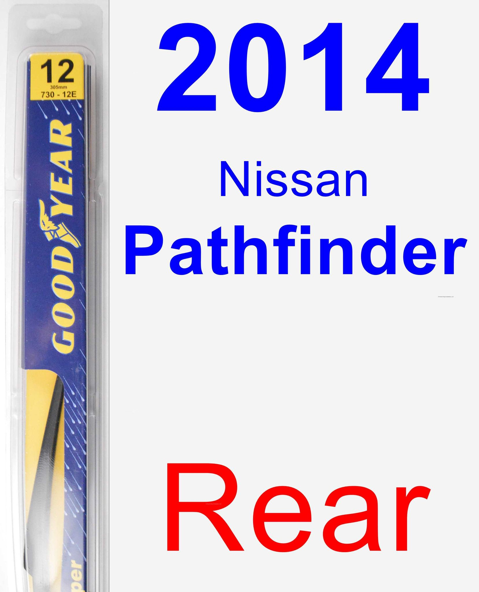 Rear Wiper Blade for 2014 Nissan Pathfinder - Rear