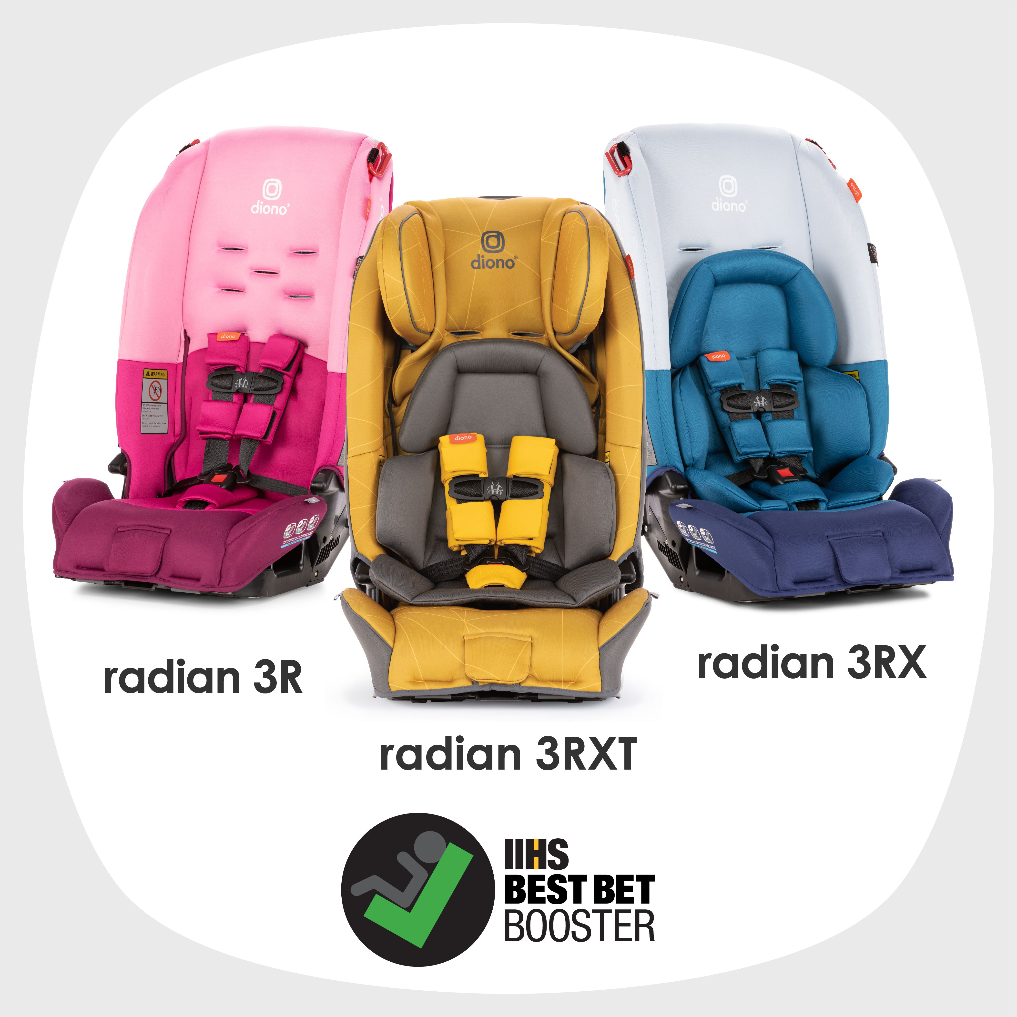 Radian Seats Are Iihs Best Bet Boosters Baby Car Seats Car Seats Diono Car Seat