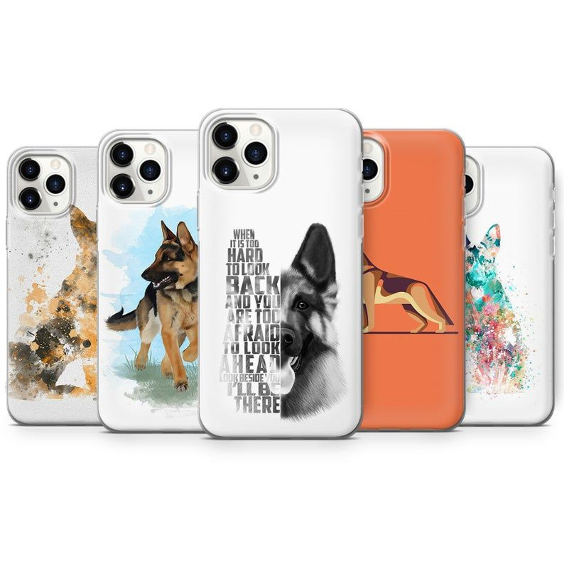 German Shepherd Phone Case Dogs Cover For Iphone 12 Mini 7 8 X Xs 11 Pro Samsung S10 S20 A51 A50 Huawei P20 P30 And More A4 In 2021 Phone Cases Dog Cover Phone Case Design