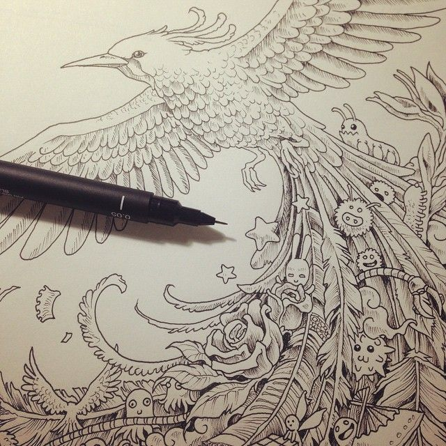 More inked pages for an upcoming book. by kerbyrosanes