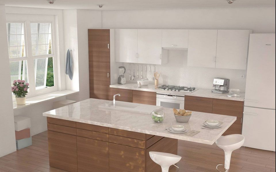 mobili-per-cucina-ikea-con-luso-di-piastrelle-di-ceramica-su-un ... - Ripiani Cucina Ikea