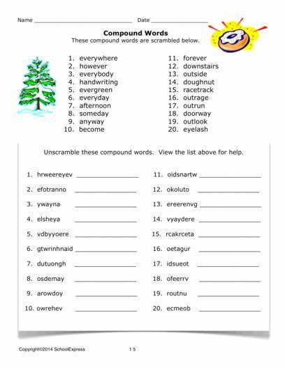 Compound Words Worksheets Compound Words Compound Words Worksheets Worksheets Compound words worksheet grade 3
