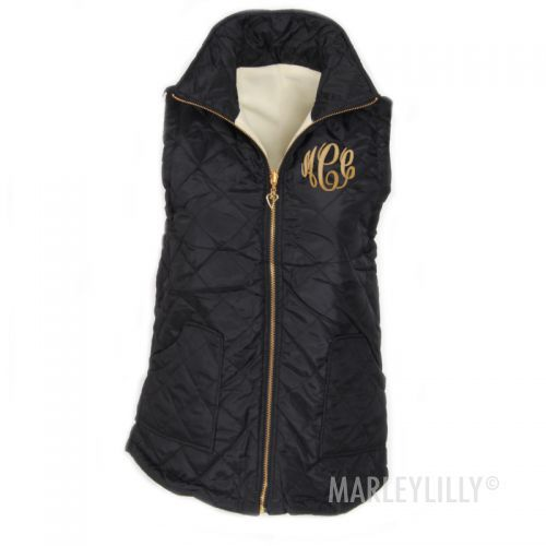 Monogrammed Quilted Vest   Marleylilly   Everything I like ... : monogram quilted vest - Adamdwight.com