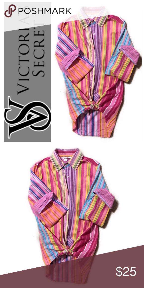 bd38b97084ea Victoria's Secret sleep shirt Striped button down sleep shirt by Victoria's  Secret. Size XS NWOT PINK Victoria's Secret Intimates & Sleepwear Pajamas