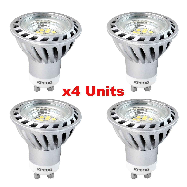Xpeoo 4 Unidades De 6w Bajo Consumo Bombilla Lampara Led Gu10 Igual A Halogena De 50w 520lm Foco Luz Spot Down Light Lamp Bulbs Ilu Bombillas Foco Luz Focos