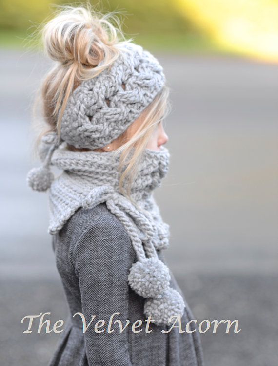 CROCHET PATTERN-Plumlyn Warmer Set (Toddler, Child, and Adult sizes ...