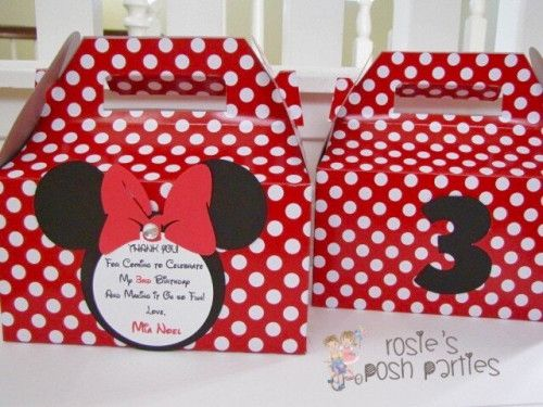 Minnie Mouse Birthday Favors Mickey Mous party favor Favor