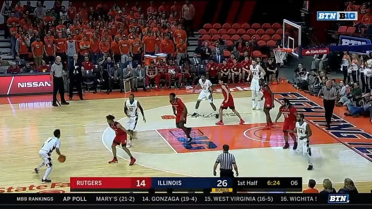 Trent Frazier Back To Back 3s Vs Rutgers Rutgers Fighting Illini West Virginia