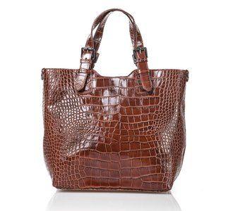 713a25a32a1 Prachtige bruine leren tas Deze bruine leren schoudertas kan zowel in de  avond als overdag worden