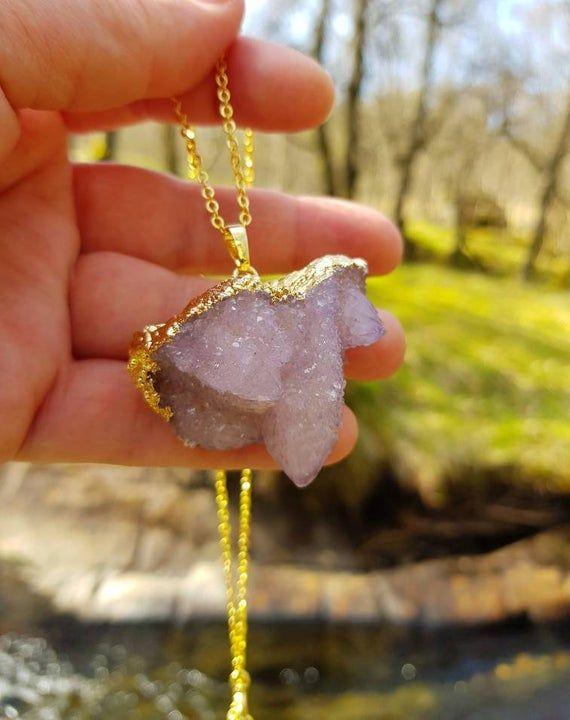 Spirit Quartz Necklace, Fairy Quartz, Spiritual Jewelry, Crystal Necklace, Spirit Quartz, Cactus Qua