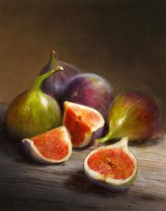 Pintor: Robert Papp Tempo: aproximadamente em 2012 Técnica:  tem cores que vão do castanho escuro ao castanho rosado e incorpora figos.