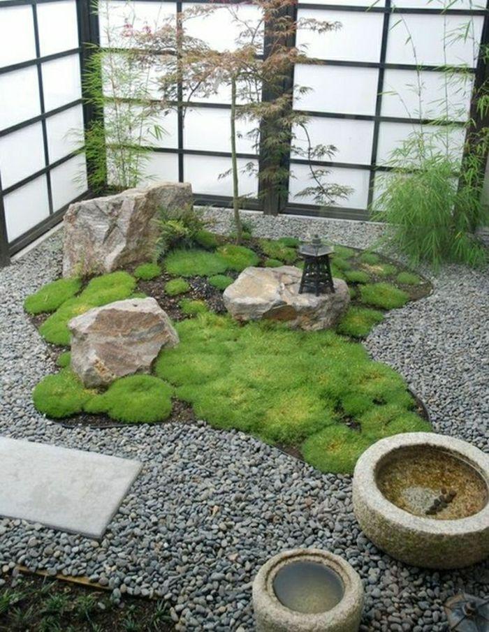 kleiner Zen Garten im Innenraum Garten Pinterest Zen-Gärten - japanischer garten bambus