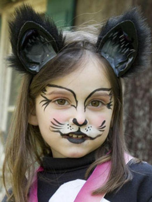 Kinder Halloween Schminkideen Katze Tutu S Pinte