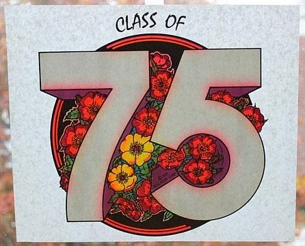 "Vintage IRON ON TRANSFER For T-Shirts ""Class Of 75"" by MADsLucky13"