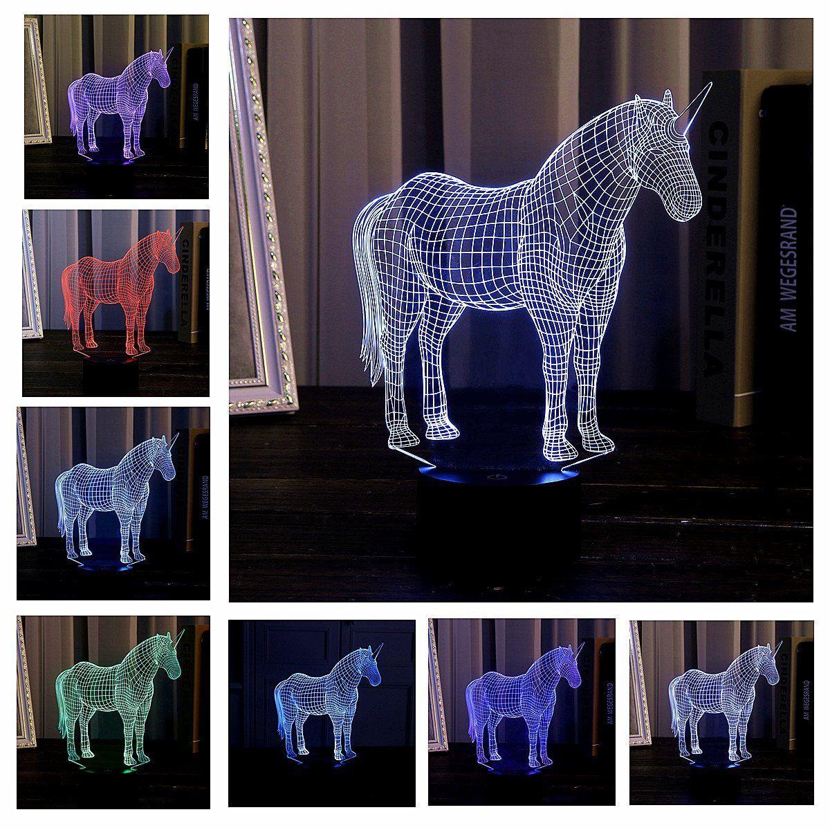 Werbung Coole 3d Lampe Einhorn Sorgt Fur Einen Coolen 3d Effekt Und Leuchtet In Verschiedenen Farben Toll Nachtlicht Fur Kinder Nachtlicht Kinder Lampen