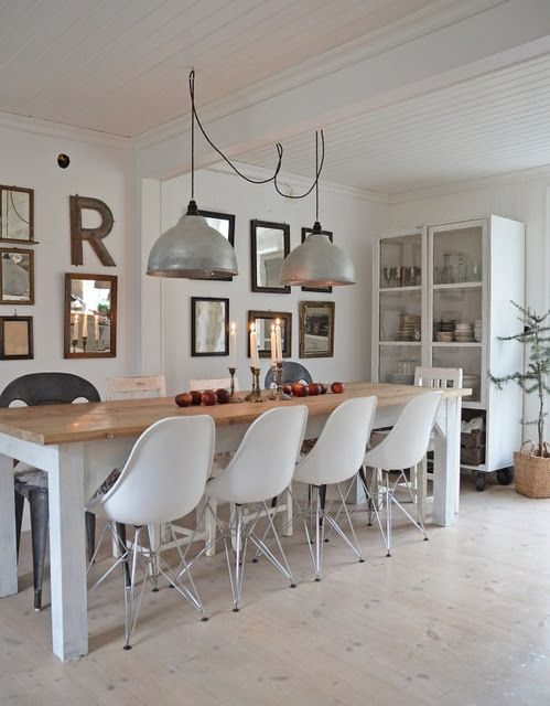 pretty. wouldn't have thought to put all the eames chairs on one side...but it looks good!