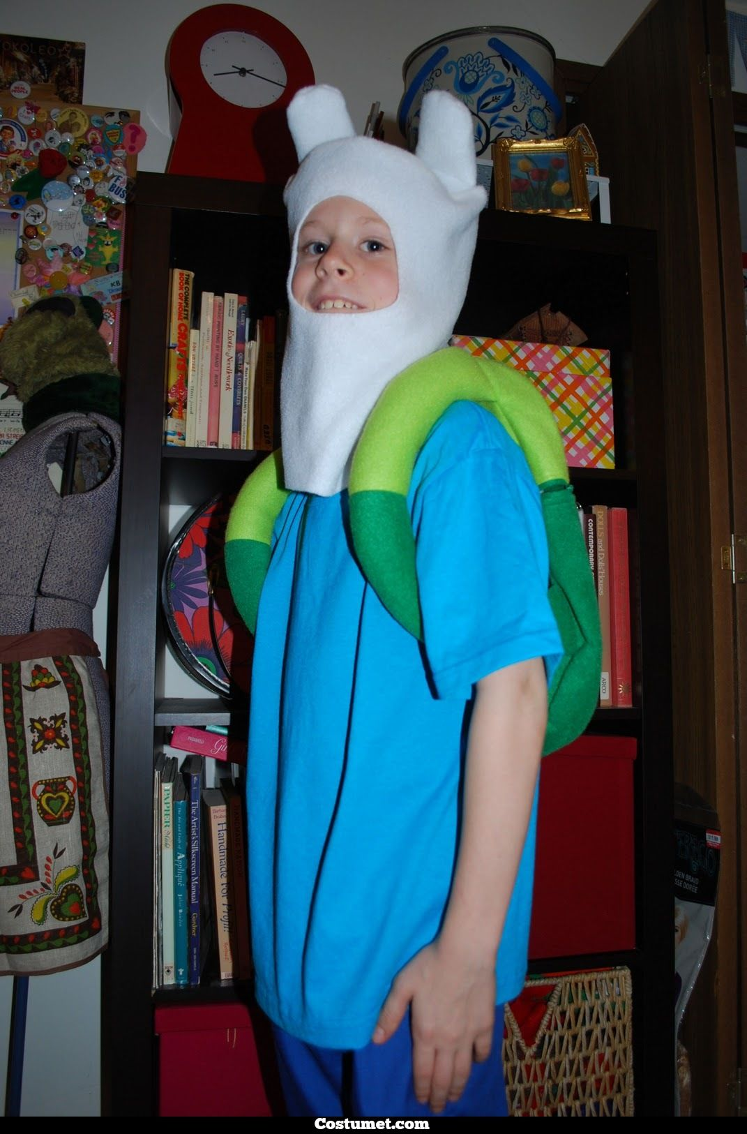 dress like adventure time's finn the human costume for cosplay