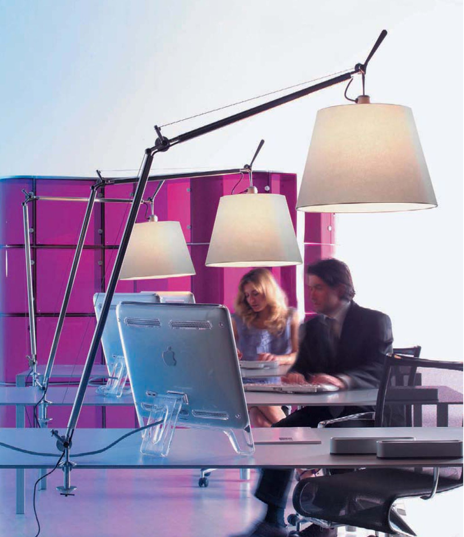Artemide Tolomeo Artemide Lighting Task Lamps Timeless Design Fabric Shades