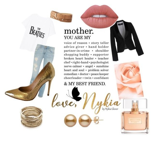 """""""Gold flair"""" by taylorglover9 on Polyvore featuring Charlotte Russe, Dsquared2, Violeta by Mango, Sole Society, Lime Crime and Givenchy"""