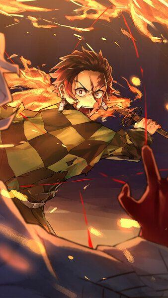Tanjiro Vs Rui Kimetsu No Yaiba 4k Hd Mobile Smartphone And Pc Desktop Laptop Wallpaper 3840x2160 1920x1080 2160x3840 108 Slayer Anime Anime Demon Anime
