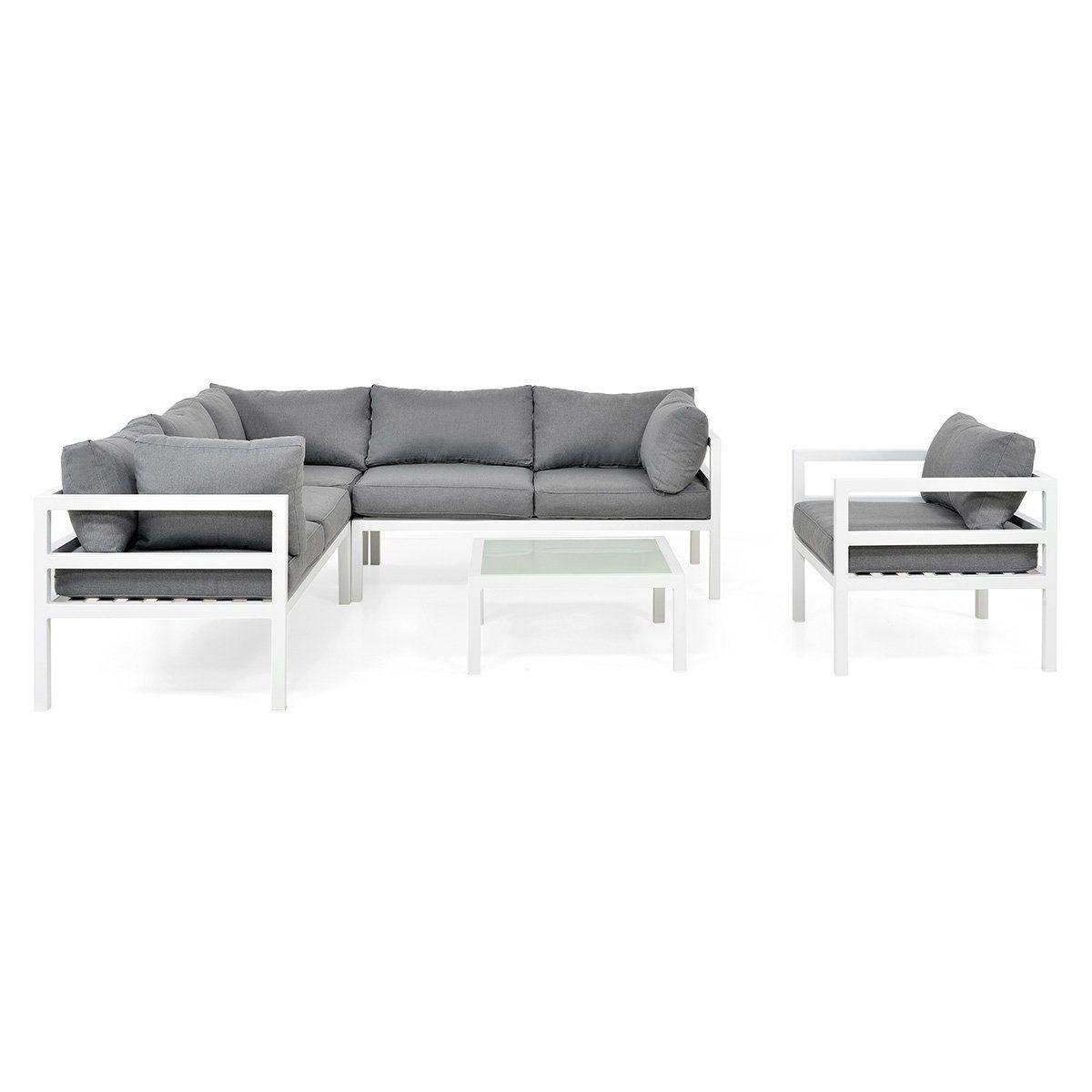 Madrid Set Mobilier Gradina Terasa 1 Fotoliu Masuta Coltar 4 Locuri In 2020 Sectional Couch Home Decor Furniture