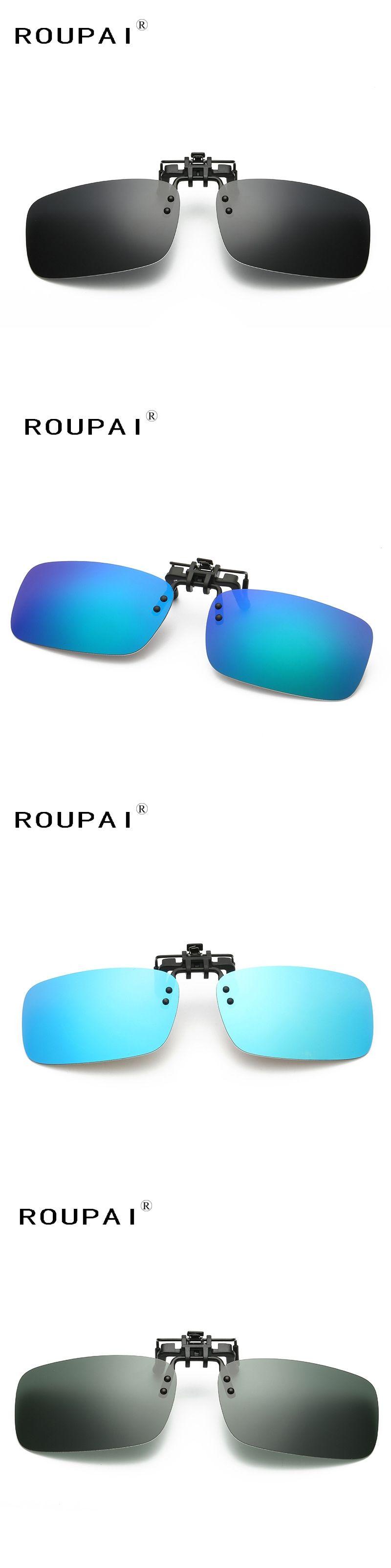 c7abecd1ce Brand Eyeglasses Frame Clip on sunglasses Polarized Lens Men Women Coating Myopia  Clip Sun Glasses
