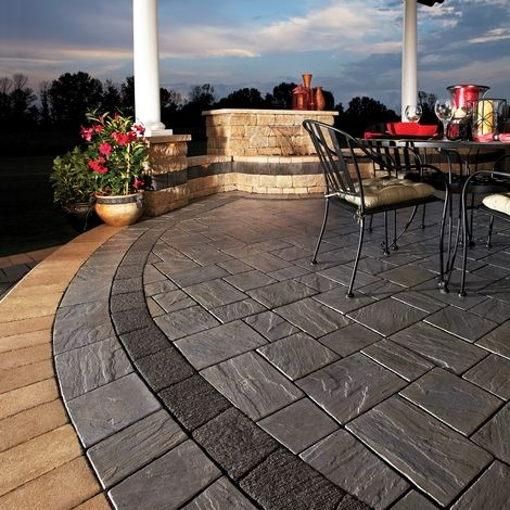 20 A Square Foot Installed Unilock Richcliff Call Us To Schedule Your Consultation 1 800 987 2595 Or Visit Us At Architec Patio Hardscape Water Feature Wall