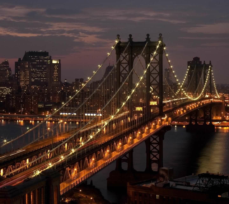 Brooklyn Bridge New York Nature Iphone Wallpaper Chicago