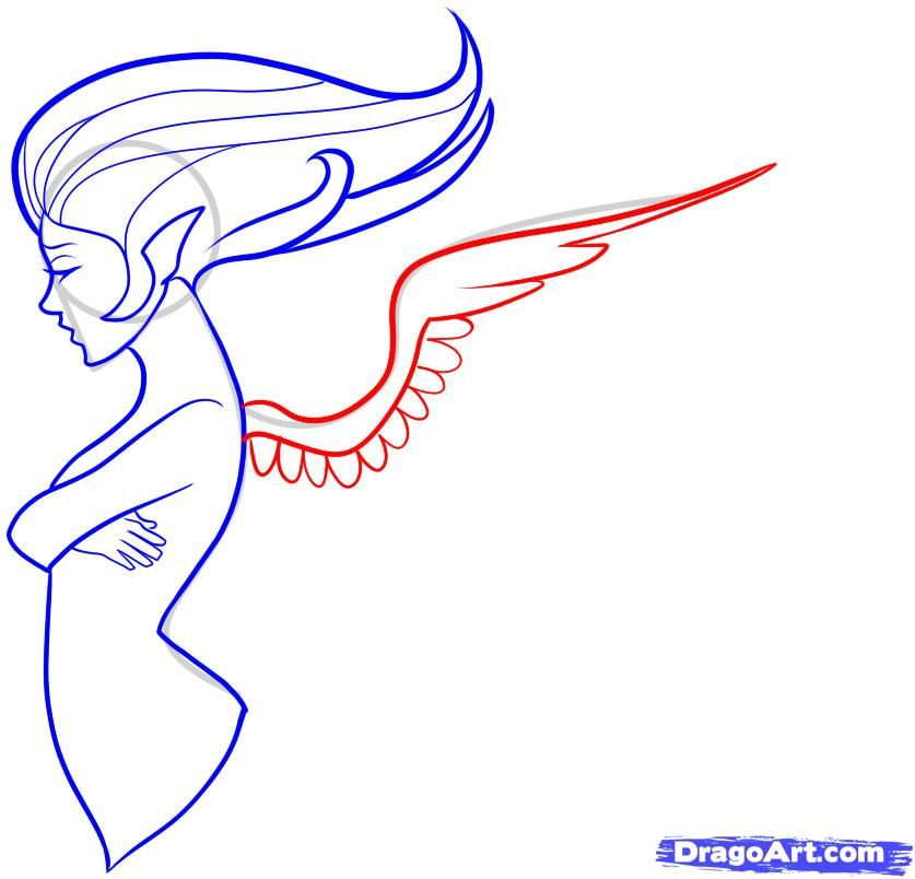 how to draw angel wings step by step easy - Google Search ...
