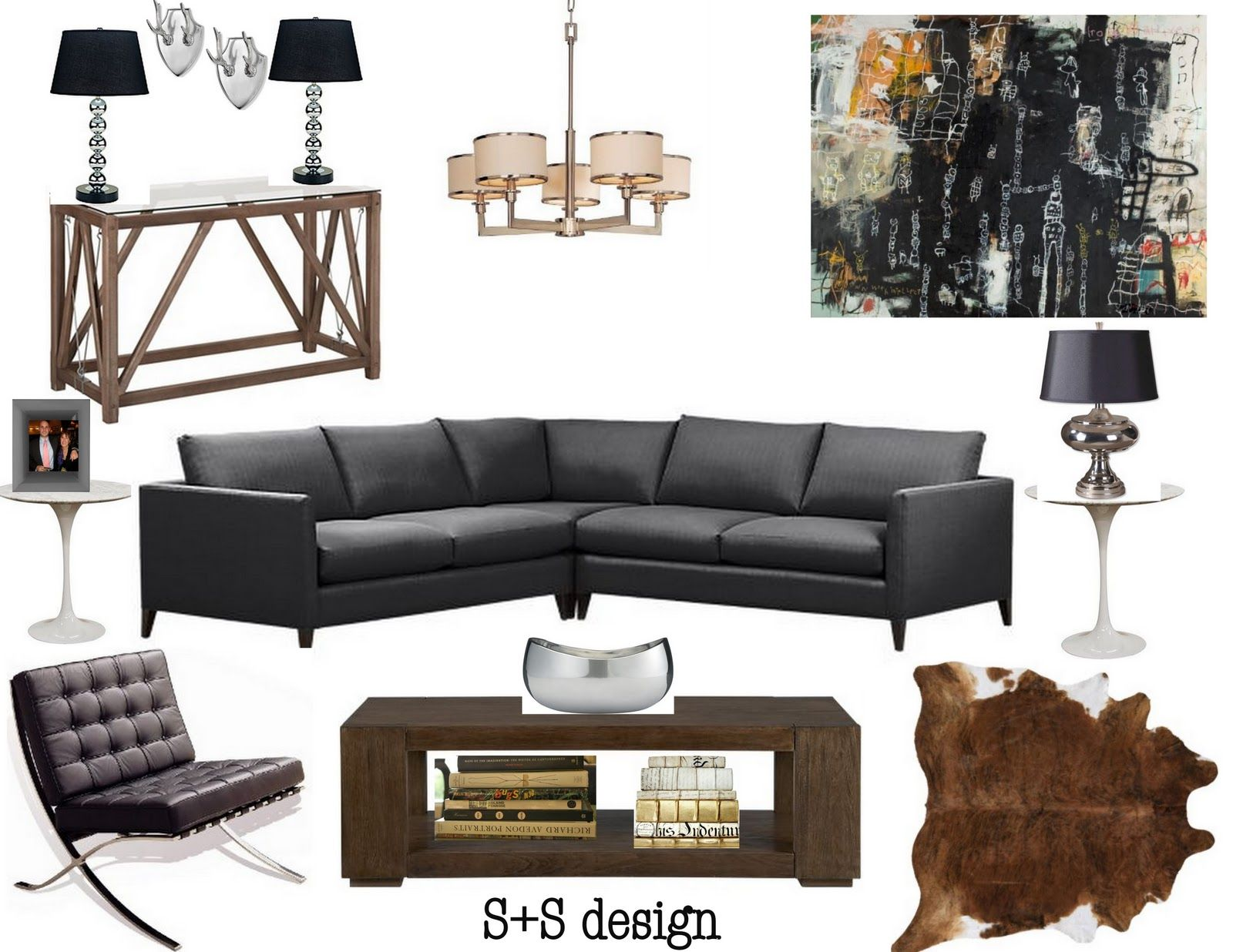 glamorous bachelor pad living room ideas | sadie + stella: S+S Design: Bachelor Pad in 2019 ...