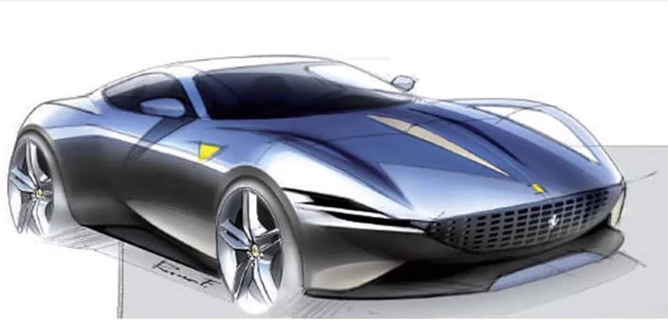 Ferrari Roma Sketches In 2020 Car Design Sketch Automotive Design Car Design