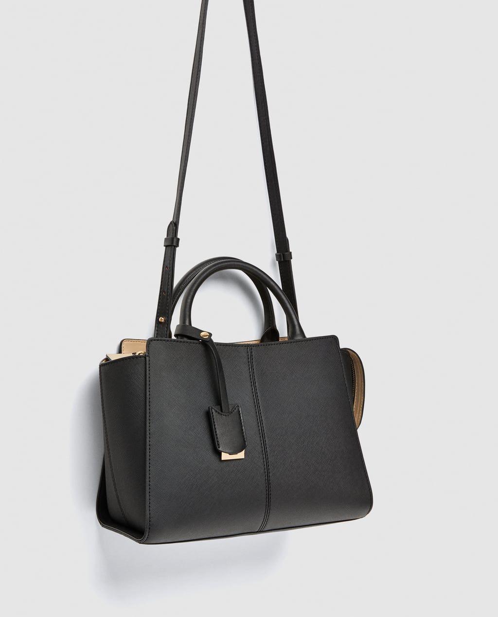 c0942068df8 MEDIUM TOTE BAG WITH CONTRASTING PENDANT DETAIL-Crossbody bags-BAGS-WOMAN |  ZARA United States
