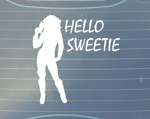 Dr Who car decal Hello Sweetie, River Song Quote