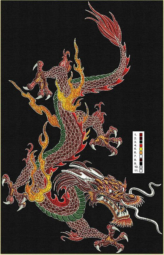 Power Dragon Embroidery Design Dragon wallpaper iphone